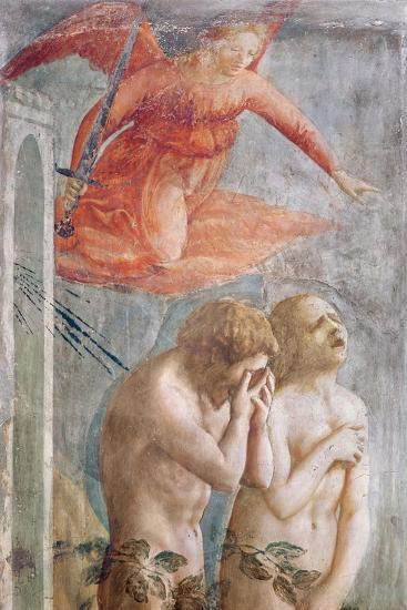 Detail of Adam and Eve Banished from Paradise, C.1427 (Detail)-Tommaso Masaccio-Giclee Print