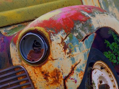 Detail of an Abandoned Chevrolet Truck Headlight-Mallorie Ostrowitz-Photographic Print