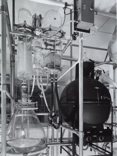 Detail of an Apparatus in the Laboratory of the Recordati Chemical and Pharmaceutical Factory-A^ Villani-Photographic Print