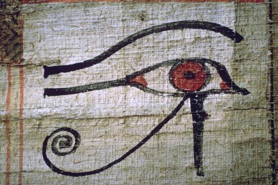 Detail of an Egyptian papyrus showing the eye of Horus. Artist: Unknown-Unknown-Giclee Print