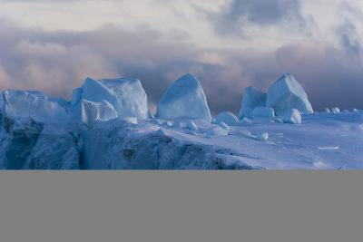 Detail of an Iceberg in Ilulissat Icefjord, an UNESCO World Heritage Site-Sergio Pitamitz-Photographic Print