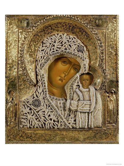 Detail of an Icon Showing the Virgin of Kazan by Yegor Petrov, Moscow, 1788--Giclee Print
