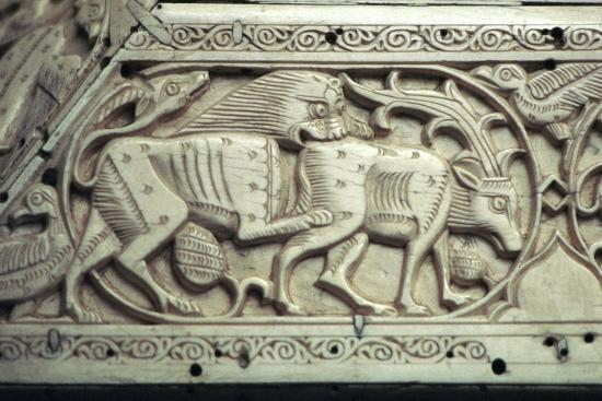 Detail of an Islamic ivory box, 11th century. Artist: Unknown-Unknown-Giclee Print