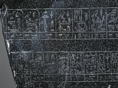 Detail of Ancient Egyptian Stele Inscribed on Both Sides with List of Ancient Egyptian Kings--Giclee Print