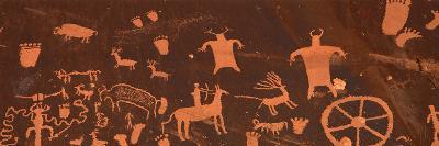 Detail of Ancient Petroglyphs Newspaper Rock Utah USA--Photographic Print