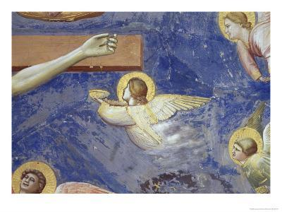 Detail of Angels Crucifixion-Giotto di Bondone-Giclee Print