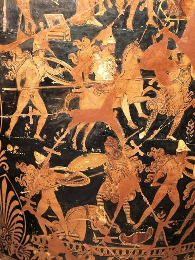 Detail of Attic Vase Depicting War Scene--Giclee Print