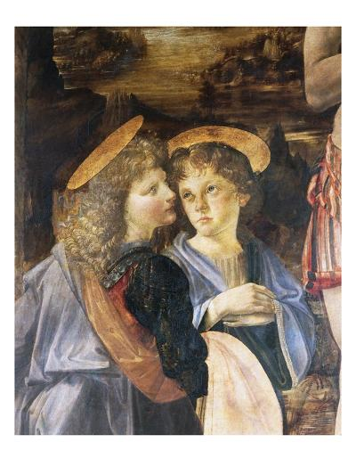 Detail of Baptism of Christ-Leonardo da Vinci-Giclee Print