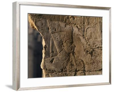 Detail of Bas-Relief, Temple of Luxor, Luxor, Thebes--Framed Photographic Print