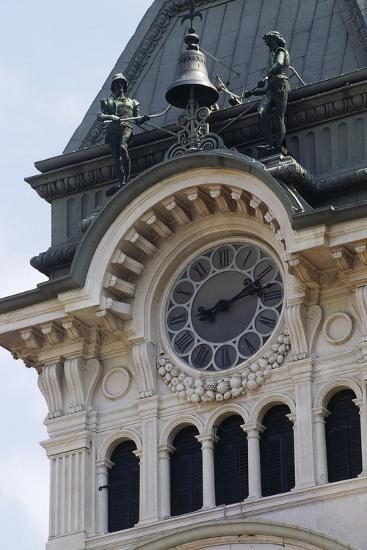 Detail of Bell Tower of Town Hall--Giclee Print