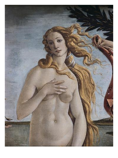 Detail of Birth of Venus-Sandro Botticelli-Giclee Print