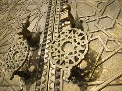 Detail of Bronze Door, Royal Palace, Fez El-Jedid, Fez, Morocco, North Africa, Africa-Martin Child-Photographic Print