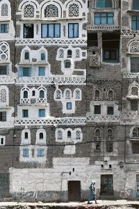Detail of Building in Sana'A (Unesco World Heritage List, 1986), Yemen
