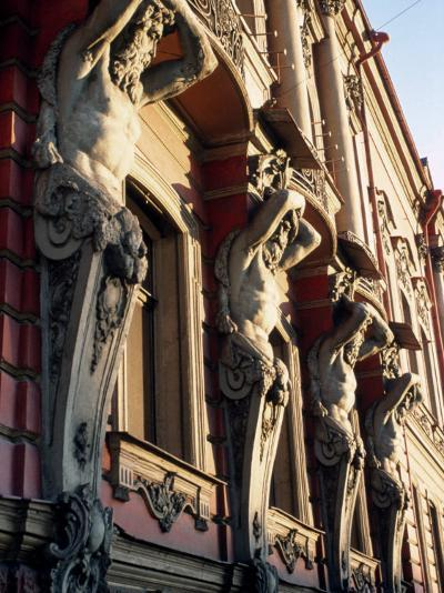 Detail of Building, St. Petersburg, Russia-Jeff Greenberg-Photographic Print