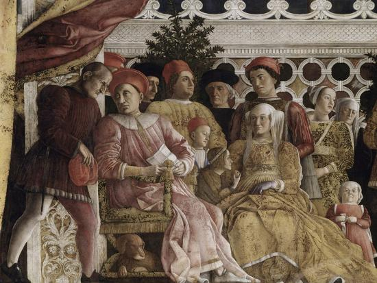 Detail of Camera Degli Sposi: the Court-Andrea Mantegna-Giclee Print