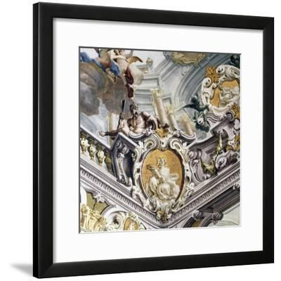 Detail of Ceiling Above Staircase with Fresco--Framed Giclee Print