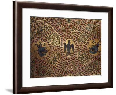 Detail of Ceiling Mosaics in King Roger's Room, Palace of Normans or Royal Palace of Palermo--Framed Giclee Print