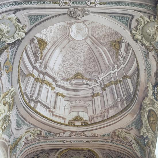 Detail of Ceiling with Frescoes-Vincenzo Re-Giclee Print