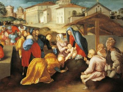 Detail of Central Part of Adoration of Magi or Epifania Benintendi-Jacopo Da Pontormo-Giclee Print
