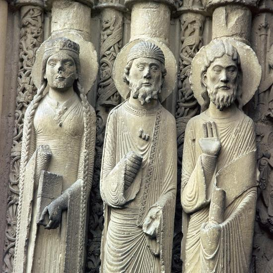 Detail of Chartres Cathedral, 12th century-Unknown-Giclee Print