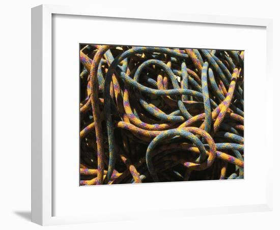 Detail of Colorful Climbing Ropes-Bobby Model-Framed Photographic Print