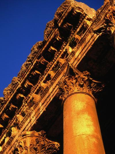 Detail of Columns and Entablature, Baalbek, Lebanon-Bethune Carmichael-Photographic Print