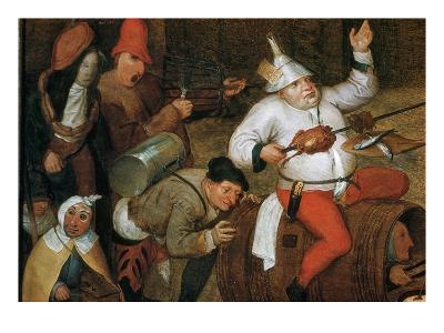 Detail of Combat Between Carnival and Lent-Pieter Bruegel the Elder-Giclee Print