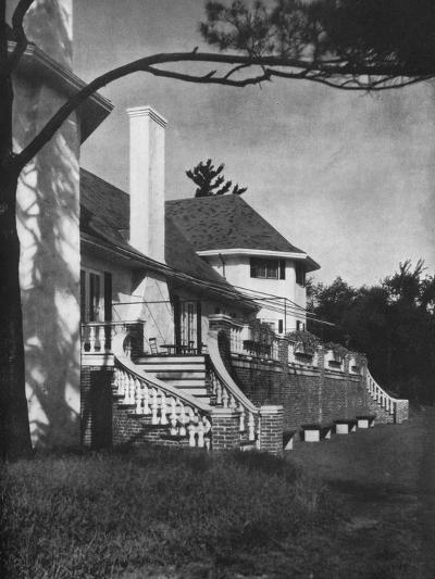 Detail of court side, Longwood Cricket Club, Chestnut Hill, Massachusetts, 1922--Photographic Print