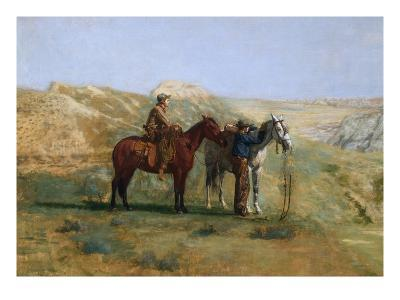 Detail of Cowboys in the Badlands-Thomas Cowperthwait Eakins-Giclee Print