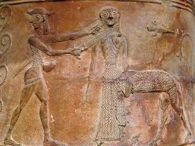 Detail of Cycladic Terracotta Relief of Perseus Killing Medusa--Photographic Print