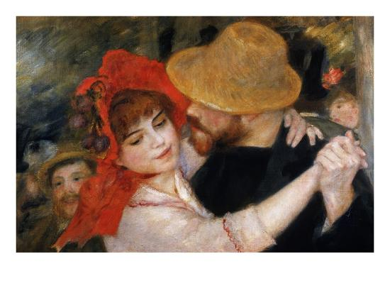 Detail of Dancing Couple from Le Bal a Bougival-Pierre-Auguste Renoir-Premium Giclee Print