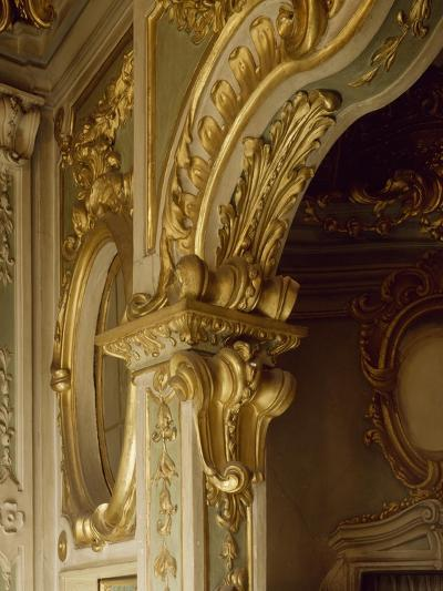Detail of Decorations in Pope Pius VII Room, Palazzo Borea, Sanremo, Italy--Giclee Print