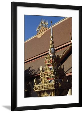 Detail of Decorations of Buddhist Temple Wat Chan, Vientiane (Viangchan), Laos--Framed Giclee Print