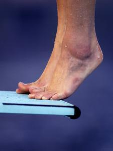 Detail of Divers Feet on the Diving Board