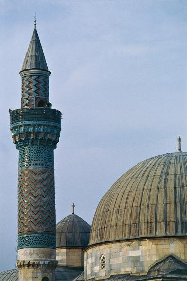 Detail of Dome and Minaret of Green Mosque (Yesil Cami), 1378-1387, Iznik, Turkey--Photographic Print