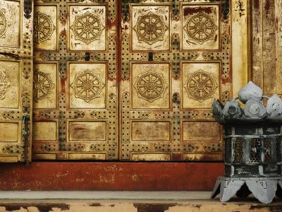 Detail of Door, Ueno Toshogu Shrine, Tokyo, Central Honshu, Japan-Schlenker Jochen-Photographic Print