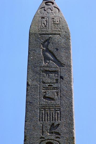 Detail of Egyptian obelisk. Artist: Unknown-Unknown-Giclee Print