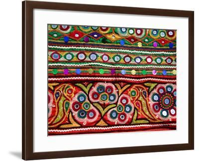 Detail of Embroidered Bag-Kimberley Coole-Framed Photographic Print