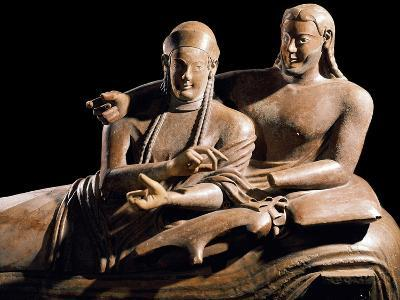 Detail of Etruscan Sarcophagus of the Spouses--Photographic Print