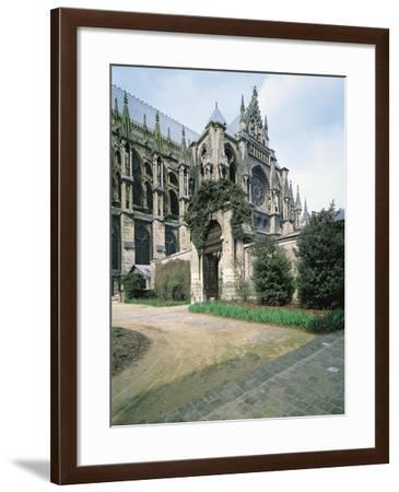 Detail of Facade of Southern Transept of Cathedral of Notre-Dame--Framed Photographic Print