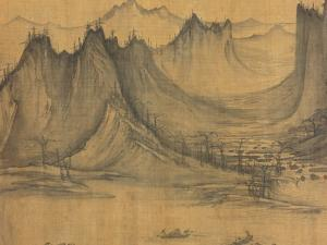 Detail of Fishermen's Evening Song by Xu Daoning