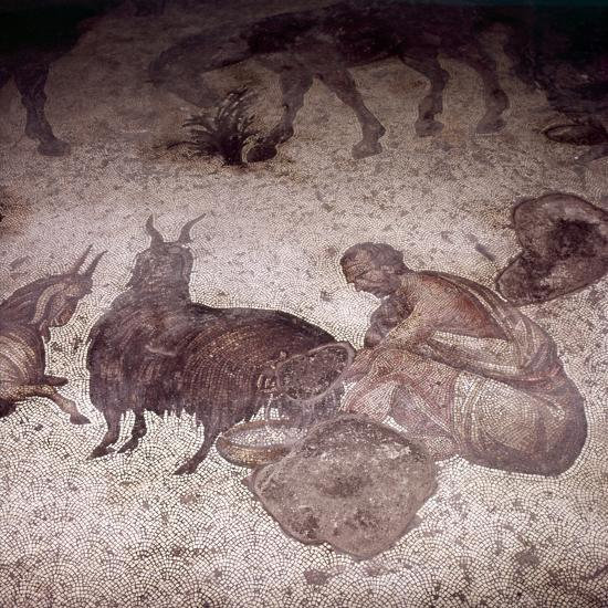 Detail of Floor Mosaic at Great Palace, Istanbul, Reign of Justin, 565-575-Unknown-Giclee Print