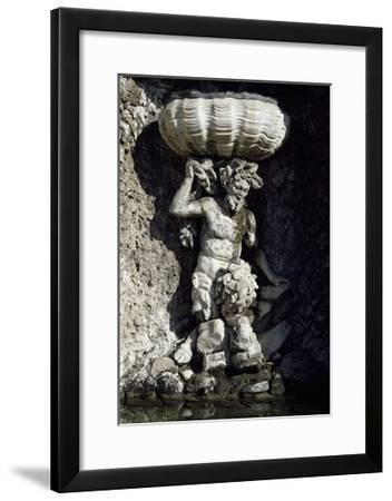 Detail of Fountain in Garden of Villa Belgioioso, Merate, Italy, 17th-18th Century--Framed Giclee Print