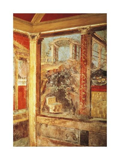 Detail of Fresco Depicting View of Palaces, from Passage in Roman Villa in Boscoreale--Giclee Print