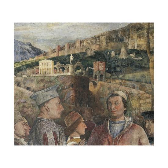 Detail of Fresco in Bridal Chamber-Andrea Mantegna-Giclee Print