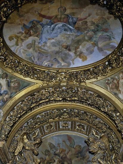 Detail of Frescoes and Decoration, Chapel of St Joseph, Church of St Mary in Campitelli--Giclee Print