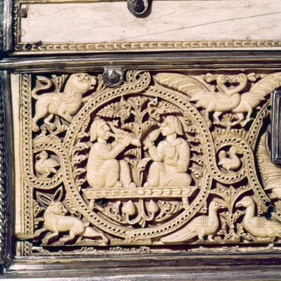 Detail of front of Ivory Casket, Hispano-Arabic work, Cordoba, 11th centur-Unknown-Giclee Print