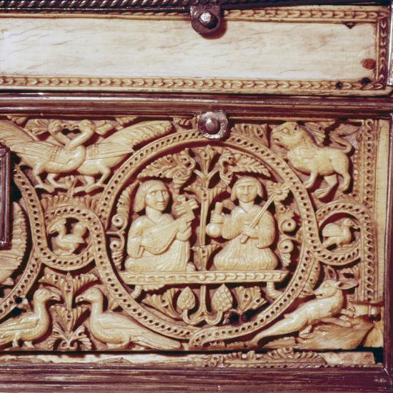 Detail of front of Ivory Casket, Hispano-Arabic work, Cordoba, 11th century-Unknown-Giclee Print