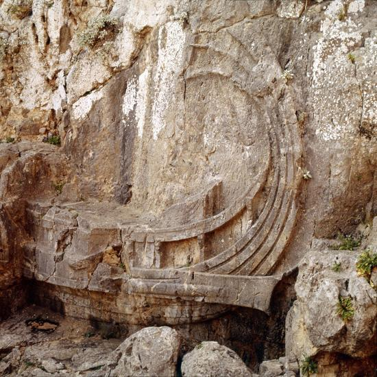 Detail of Greek Ship with Large Steering Oar, Relief Carving 2nd century BC-Unknown-Giclee Print