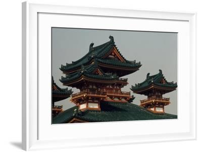 Detail of Heian Temple, 1895, Kyoto, Japan,19th Century--Framed Giclee Print